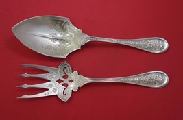 Whiting Sterling Silver Salad Serving Set 2pc w/ Bright-Cut Serving Area... - $609.00