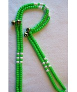 ENDURANCE GREEN ~ HORSE RHYTHM BEADS ~ Size 54 Inches - $19.00