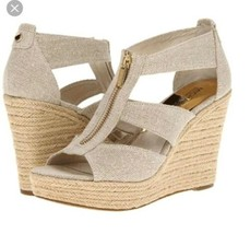 Michael Kors Dawita Wegde  Natural hemp Size 10 New - $70.30