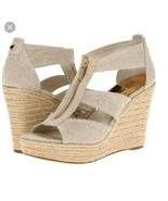 Michael Kors Dawita Wegde  Natural hemp Size 10 New - $70.30