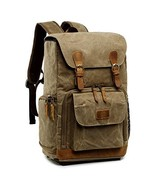Father's Day Gift S-ZONE Waterproof Waxed Canvas Camera Backpack Camera ... - $79.64