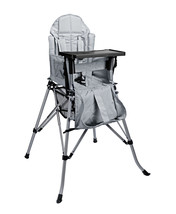 One2Stay Comfort Portable High Chair with Dinning Tray - Silver Grey - $135.20
