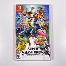 Nintendo Switch Super Smash. Bros Ultimate Complete With Case EUC - $46.74