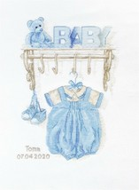 """""""Baby Boy Birth sampler"""" Counted Cross Stitch Kit by Luca S Free P+P - $32.90"""