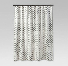 New THRESHOLD White Black Floral Print Fabric Shower Curtain 100% Cotton... - $19.79