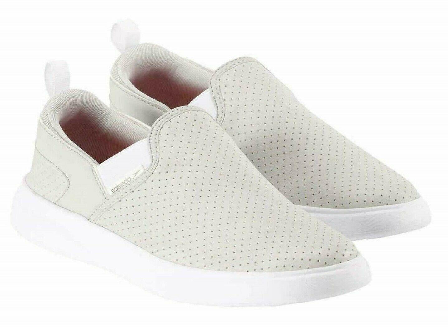 Speedo Women's Grey Light Weight Ladies' Hybrid Slip on Sneaker Boat Water Shoes