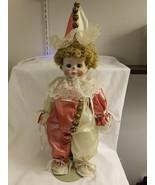 "Richard Greene Noble Arts Musical Porcelain Girl Clown Doll - 17"" tall w... - $36.13"