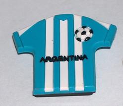 ARGENTINA RUBBER 3D FLAG COLOR TEAM SOCCER BALL SHIRT REFRIGERATOR MAGNET - $13.78