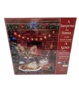 SunsOut A Surprise for Santa Puzzle 500 Piece Kitten Car Art by Brooke F... - $14.95