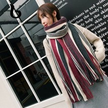 Christmas Winter Scarf Warm Cashmere Scarves With Tassel Fur Ponchos And... - $28.21