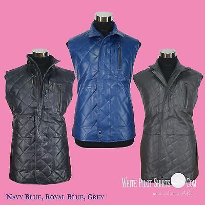 dfe90d7cf87 New Mens Leather Vest jacket Quilted Banana and 50 similar items