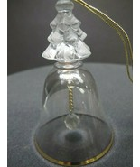 Lenox Crystal 1990 christmas mini bell Made in USA mouth blown gold band - $13.10