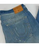 True Religion Men Geno Distressed Denim Blue Jeans 38 Relaxed Slim W 40 ... - $59.66