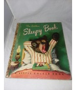1948 A Little Golden Book Sleepy Book No 46 Vintage Margaret Wise Brown - $11.99