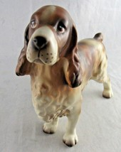 "Vintage Cocker Spaniel Dog Lefton Figurine Sticker H7328 Ceramic 5"" Rare - $29.69"