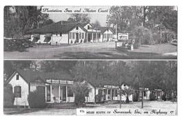 Plantation Inn and Motor Court Savannah GA Hwy 17 Vintage AAA Motel Postcard - $4.99