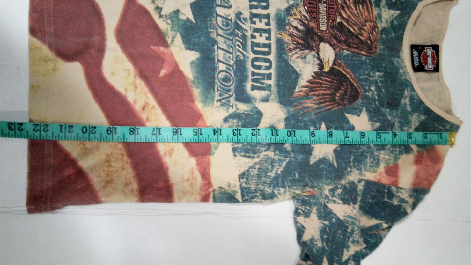 Harley Davidson Of Rehoboth Beach Delaware XL US Flag Womens embellished Blouse  image 5