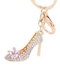 High-heeled Shoes Style Rhinestone Key Chain Keyring - $11.98