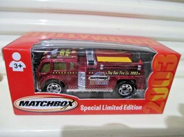Matchbox 2003 Special Limited Edn. Hollywood Toy Fair Fire Truck New In Mint Box - $9.99