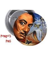 "Salvador Dali - 3"" LARGE Pinback  w/ FREE display stand & Magnet! - $4.99"