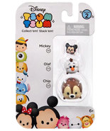 Disney Tsum Tsum 3 Pack Series 2 Mickey 101 Olaf 177 Chip 221 StackEms Mini - $8.00