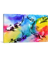 ARTCANVAS Colorful Koi Carp Japan Asia China Fish Canvas Art Print - €39,19 EUR+