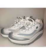 Skechers Shape Ups Sz 8 US 5 UK Women's Fitness Junkie White/Silver Baby... - $53.20