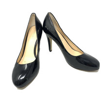 Franco Sarto Womens Warren Round Toe Patent Leather Pumps Size 9.5 Black Shoes - $19.79