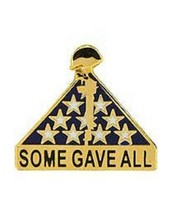 United States Memorial Flage Rifle Some Gave All Pin - $4.94