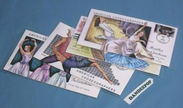Collins First Day Issue 4 American Choreographers Cover Stamps Envelopes... - $19.79