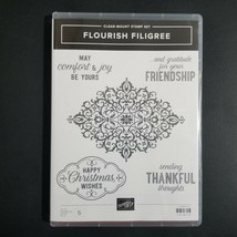 Stampin' Up! Flourish Filigree Clear Mount Stamp Set Retired Christmas 2018 - $24.19