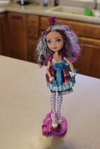 Monster Ever After High Madeline Hatter doll with stand original cloths ... - $22.52
