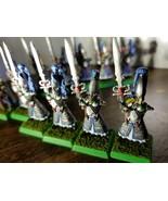 Warhammer Fantasy:  Painted HIgh Elf Swordmasters of Hoeth X 11 - $116.82