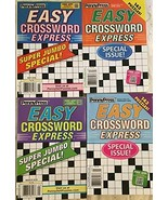 (4) Easy Crossword Express Super Jumbo Special Crosswords Puzzles Books ... - $20.74