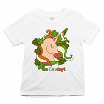 So Lucky! Youth T-shirt St. Patrick's Day Shamrock Irish Magic Unicorn Kids - $13.63+