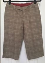 GAP Brown Plaid Cropped Cotton Pants Women's Size 1 NWT - $11.26