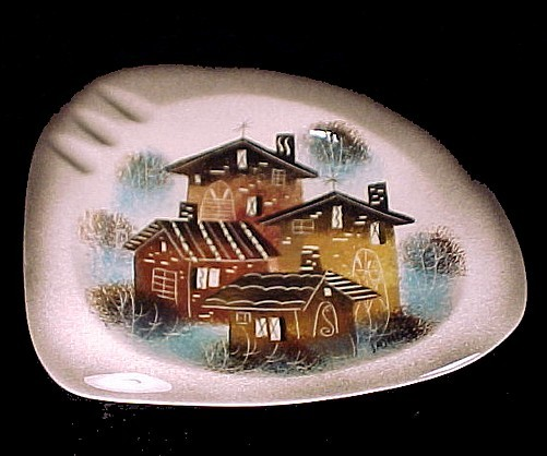50042a sascha brastoff ashtray california art pottery vintage signed mid century