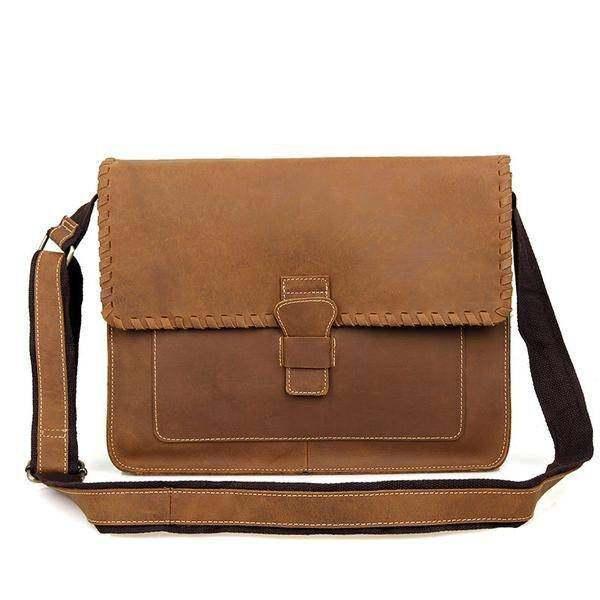 Sale, Vintage Messenger Bag, Leather Messenger Bag, Men's Fossil Messenger Bag image 3
