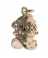 Sterling 925 Solid Silver Charm Pendant Deep Sea Diver Navy Mark V Helme... - $29.40