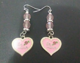 Be Mine Pink Valentine's Earrings - $15.00