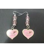 Be Mine Pink Valentine's Earrings - $15.00