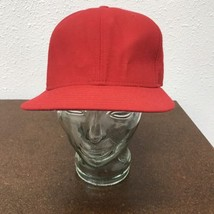 New Era Pro Model Red Flat Bill Fitted Cap Sz 7 5/8 Hat - $19.79