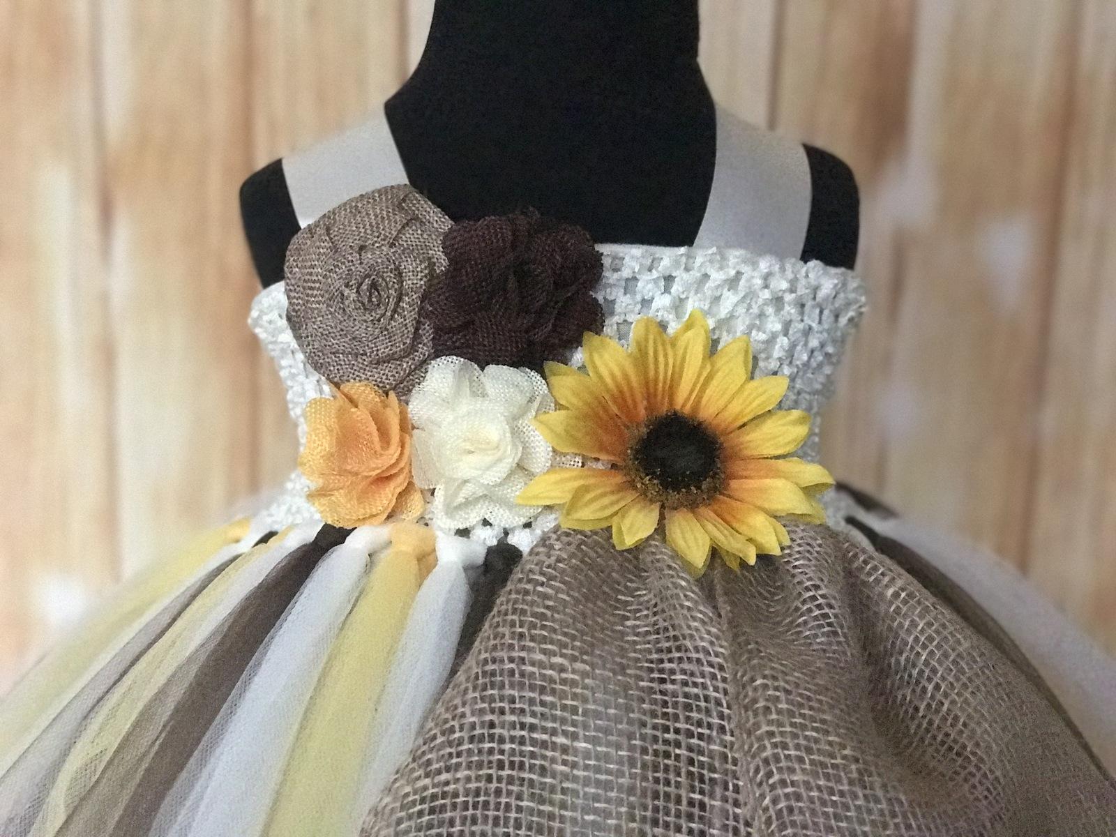 Fall Wedding Flower Girl Tutu Sunflower And 50 Similar Items