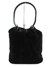 Authentic GUCCI Black Suede and Leather Shoulder Tote Bag Purse #32609 - $239.00