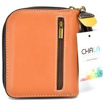 Chala Handbags Faux Leather Hedgehog Brown Zip Around Wristlet Wallet image 2