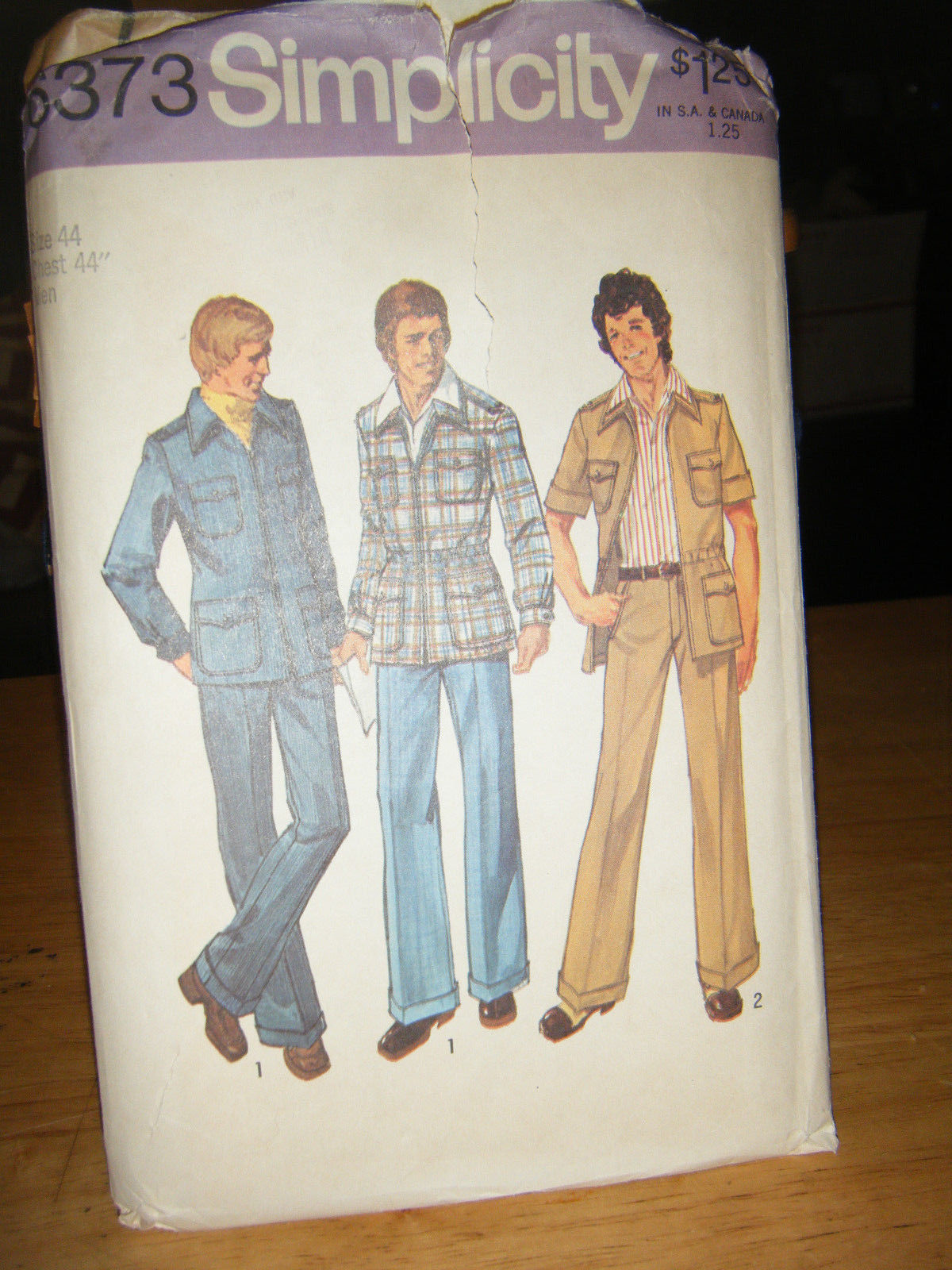 Primary image for Simplicity 6373 Men's Unlined Shirt Jacket & Pants Pattern - Chest Size 44