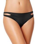 Bar III, Women's, Cut-Out Hipster Bikini Bottoms, Black, Size X-Small - $21.78