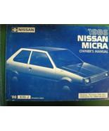 1986 NISSAN MICRA OWNERS OPERATORS MANUAL - £17.96 GBP