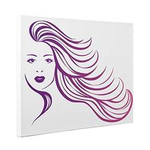 Purple Long Hair Flowing CANVAS Wall Art Home Dcor - $32.50