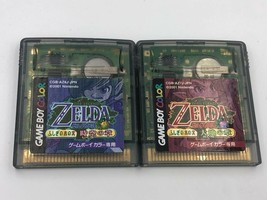 Legend of Zelda Oracle of Seasons AND Ages Nintendo Game Boy Color Japan... - $41.39